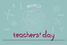 International Teacher Day World Holiday Banner Stock Image