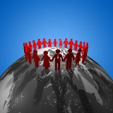 International teamwork, togetherness concept Stock Photography