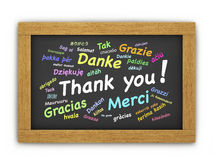 International Thank You Chalkboard Stock Image