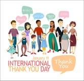 International Thank You Day. stock illustration
