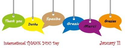 International thank you day, January 11. International thank you day celebrate January 11 stock illustration