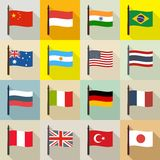 International theme background with flags Royalty Free Stock Image