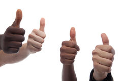 International thumbs up for this Royalty Free Stock Photography