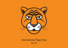 International Tiger Day vector Stock Images