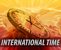 International time management background Stock Photos