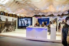 International Tourism Fair, Madrid, Spain. FITUR 2014. Fair Inst. Itution of Madrid, IFEMA, Spain. Sample various proposals for international tourism Spanish Stock Images
