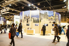 International Tourism Fair, Madrid, Spain. FITUR 2014. Fair Inst Royalty Free Stock Photo
