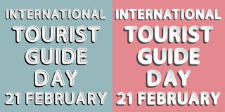 International Tourist Guide Day Royalty Free Stock Photos