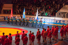 The international tournament on sambo Royalty Free Stock Image