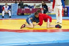 The international tournament on sambo Royalty Free Stock Photo