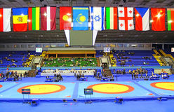 19 International Tournament in wrestling, Kyiv, Ukraine Royalty Free Stock Photo