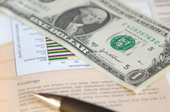 International trade. Concept featuring chart and currency Stock Photo