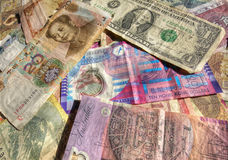 International trade currency. Collection of international trade currency hdr Stock Photography