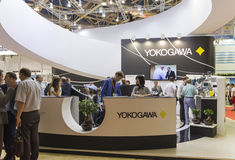 International Trade Fair MIOGE. MOSCOW-JUNE 24, 2015: Booth control and measuring equipment Japanese company Yokogawa at the International Trade Fair MIOGE Royalty Free Stock Photos