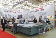 International Trade Fair REKLAMA. MOSCOW-SEPTEMBER 24, 2015: Large format printers brand CHALLENGER at the International Trade Fair REKLAMA Stock Images