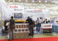 International Trade Fair REKLAMA. MOSCOW-SEPTEMBER 24, 2015: Large format printers brand CHALLENGER at the International Trade Fair REKLAMA Royalty Free Stock Photos