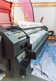 International Trade Fair REKLAMA. MOSCOW-SEPTEMBER 24, 2015: Large format printers brand CRYSTAL from China at the International Trade Fair REKLAMA Stock Images