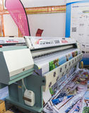 International Trade Fair REKLAMA. MOSCOW-SEPTEMBER 24, 2015: Large format printers brand INFINITI from China at the International Trade Fair REKLAMA Stock Images