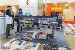 International Trade Fair REKLAMA. MOSCOW-SEPTEMBER 24, 2015: Large format printers of the Chinese company INKWIN at the International Trade Fair REKLAMA Stock Photos
