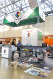 International Trade Fair REKLAMA. MOSCOW-SEPTEMBER 24, 2015: Large format printers of the Chinese company INKWIN at the International Trade Fair REKLAMA Stock Photo