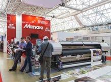 International Trade Fair REKLAMA. MOSCOW-SEPTEMBER 24, 2015: Large format printers Japanese company Mimaki at the International Trade Fair REKLAMA Royalty Free Stock Image