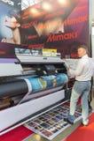 International Trade Fair REKLAMA. MOSCOW-SEPTEMBER 24, 2015: Large format printers Japanese company Mimaki at the International Trade Fair REKLAMA Stock Photography