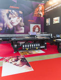 International Trade Fair REKLAMA. MOSCOW-SEPTEMBER 24, 2015: Large format printers Japanese company Mimaki at the International Trade Fair REKLAMA Stock Image