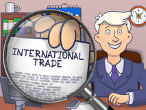 International Trade through Lens. Doodle Concept. Royalty Free Stock Photography