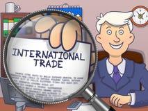 International Trade through Lens. Doodle Concept. Royalty Free Stock Photography