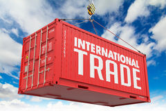 International Trade on Red Container. Stock Photography