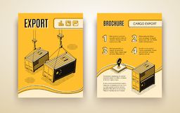 International export isometric vector brochure royalty free illustration