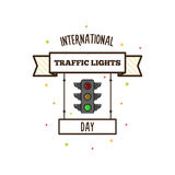 International traffic lights day. Vector illustration. Banner Stock Photography