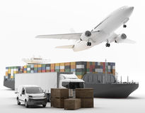 International Transportation. Vehicles for the transport of goods Royalty Free Stock Photos