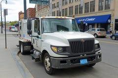 International Trash Truck, Massachusetts, USA. International Trash Truck in Worcester, Massachusetts, USA royalty free stock image