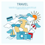 International travel by airplane Royalty Free Stock Photos
