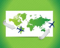 International travel concept. illustration design Royalty Free Stock Photo