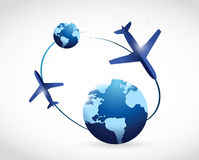 International travel concept illustration design Royalty Free Stock Photography