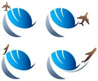 International travel logo Royalty Free Stock Photography