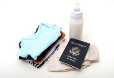 International vacation with infant or baby Royalty Free Stock Image