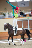 International Vaulting competition on June 16, 2017 in Pezinok, Slovakia Royalty Free Stock Images