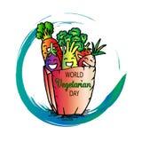 International vegetarian day. Cartoon style Stock Image