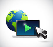 International video marketing concept illustration Royalty Free Stock Photo