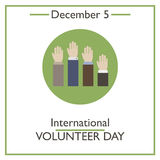International Volunteer Day. December 5 Stock Photo