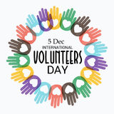 International Volunteers Day. Creative banner or poster for International Volunteers Day Stock Image