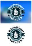 International Voyager Emblem Royalty Free Stock Photo