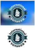 International Voyager emblem Royalty Free Stock Photo