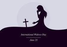 International widows day vector Stock Photos