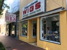 International Wigs, Columbia, South Carolina. International Wigs located on Main Street, Columbia, South Carolina royalty free stock images