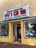 International Wigs, Columbia, South Carolina. International Wigs located on Main Street, Columbia, South Carolina royalty free stock photography
