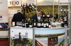 International Wine Trade Fair ENOEXPO in Cracow. Producers of wine from all around the world meet the importers distributors and representatives. Cracow Royalty Free Stock Photos